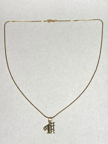 14K Gold Necklace, #1 Mom