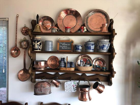Copper Wall Display