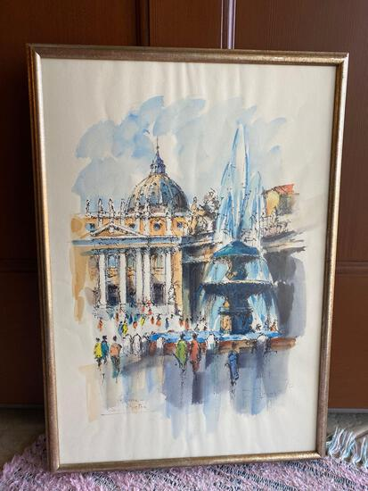 Signed & Framed Wall Art, Rome