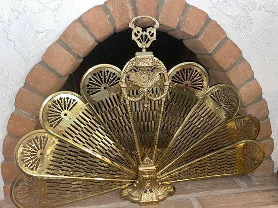 Brass Fireplace Display