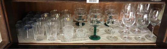 Shelf Contents, Wine Glasses , Margarita, Tumblrs