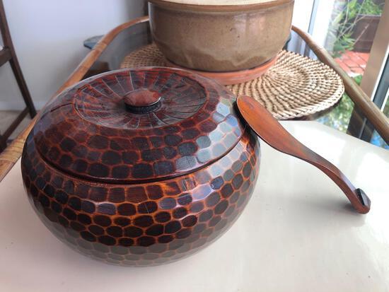 Vintage Japanese Rice Bowl w/ Spoon
