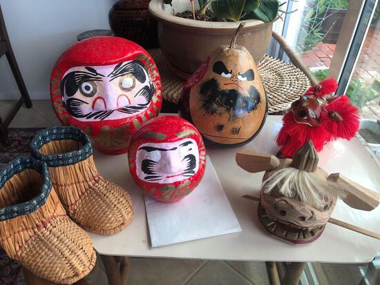 Asian Toys, Daruma, Rattler, Figurines