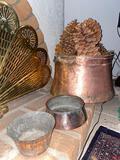3 Copper Pots