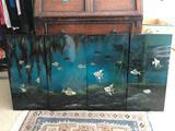 Vietnamese 4 Piece Ocean Wall Art w/ Mother of Pearl Inlays