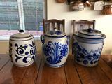 Vintage Ceramic Jars 3 Units