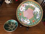 Decorative Japanese Plate & Chinese Bowl
