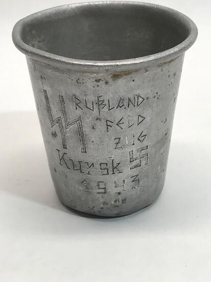WW2 German Third Reich SS Kursk Trench Cup