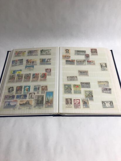 24 Page Book Full Of Loose Stamps