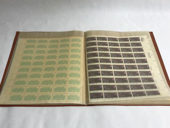 Book of 19 Uncut Stamp Block Sheets