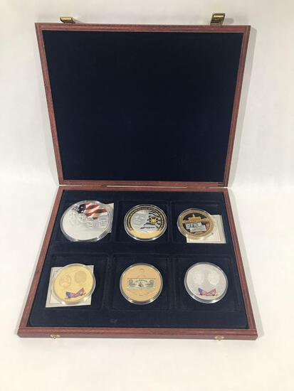 American Mint Commemorative 6 Coins in Case
