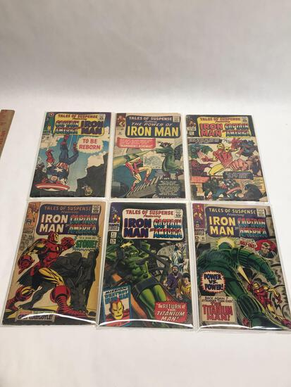 1960s Captain America Iron Man Comics 6 Units
