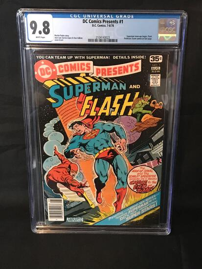 1978 DC Presents #1 Superman Flash Graded 9.8 Comic