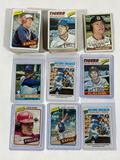 Collection of 100+ Topps Baseball Cards, 1976, 1977, 1980
