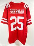 Signed San Francisco 49ers Football Jersey w/ COA, says Richard Sherman 25