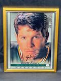 Framed Brett Favre Donruss Card Photograph, Signature w/ COA