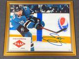 Signed Framed San Jose Sharks Erik Karlsson Photograph, Signature w/ COA