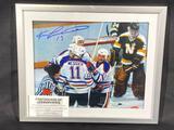 Signed Framed Edmonton Oilers Ken Linseman Photograph, Signature w/ COA