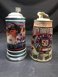 Richard Petty NASCAR Budweiser Beer Stein 2 Units