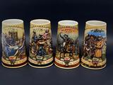 Miller Birth Of A Nation Series Steins, 4 Units