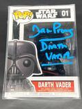 NIB Darth Vader Funko POP Signed by David Prowse w/ COA