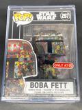 Star Wars Boba Fett Funko POP 297 Futura ECCC 2020 Exclusive in Hard Case