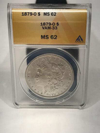 1879-O VAM-33 MS62 Morgan Silver Dollar