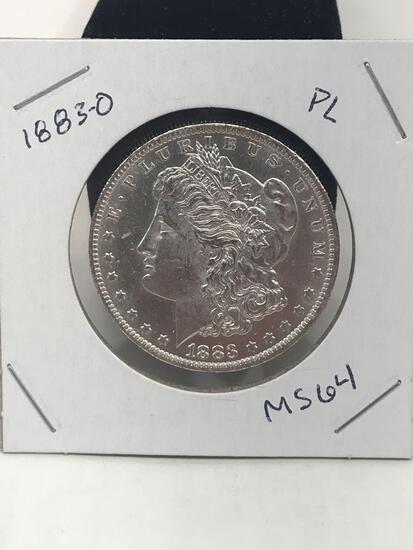 1883-O PL MS64 Morgan Silver Dollar