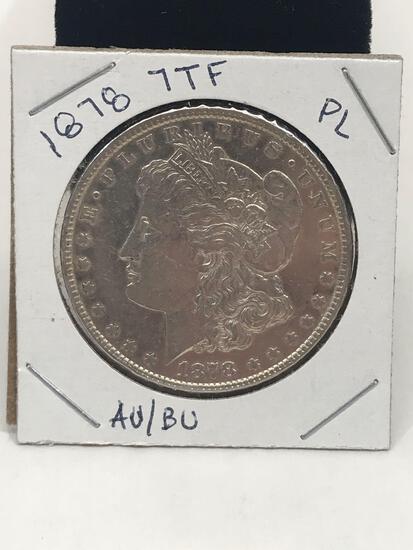 1878 7TF PL AU/BU Morgan Silver Dollar