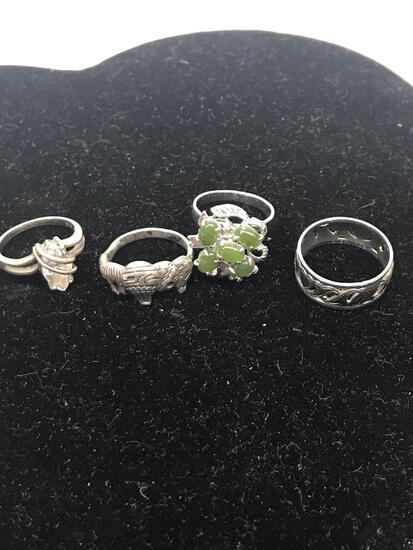 4 Rings .925 Silver