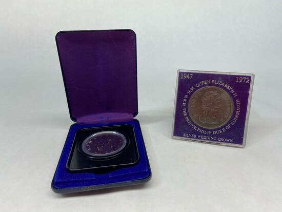 Lot of 2 Queen Elizabeth H.M. H.R.H The Prince Philip Duke of Edinburgh and Canada 1975 Dollar Coin