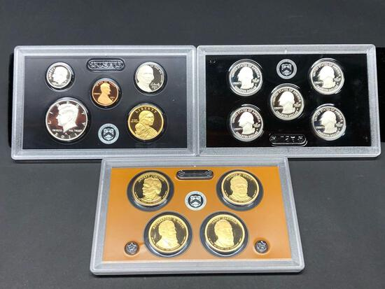 United States Mint Silver Proof Set 2011 Triple Set