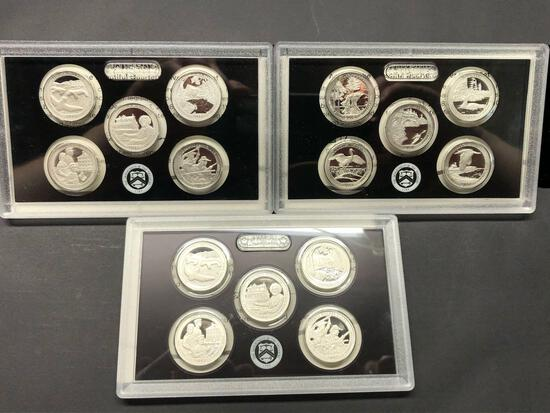 United States Mint 50 State Quarters Silver Proof Sets 2017 2017 2018 3 Units