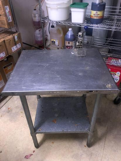Sysco Stainless Steel Prep Table w/ No. 10 Can Opener
