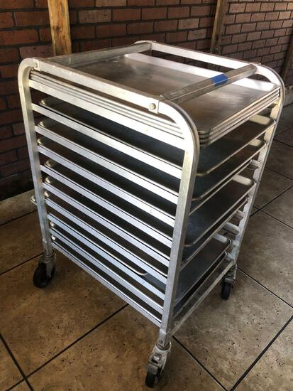 Winco Chefs Cart ALRK-10BK