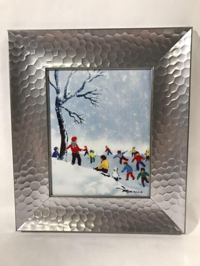 Max Karp Enamel on Porcelain Art Framed 167/500