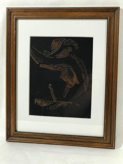 Dennis Wymbs Framed Copper Engraving