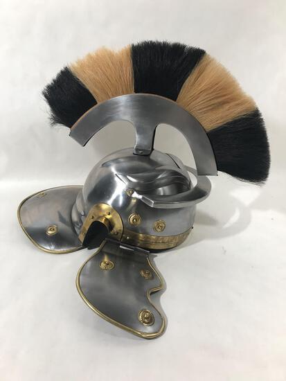 Medieval Roman Helmet with Pume