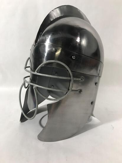 Medieval Roman Gladiator Metal Helmet