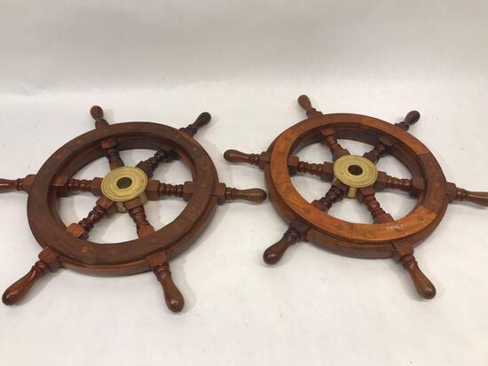Wood Ship Wheel 2 Units