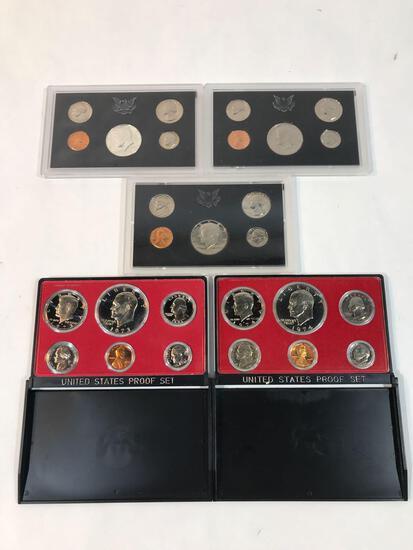 1970 1971 1972 1973 1974 Proof Set 5 Units