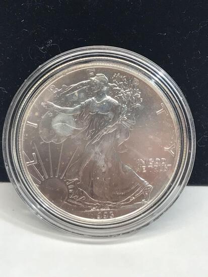 1993 Walking Liberty 1 Oz. Fine Silver Coin