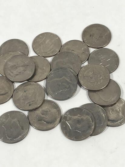 1970s-1990s Kennedy Half Dollar 20 Units