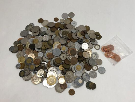 Large Bag of Mixed Foreign Coins