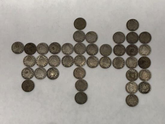 40 Liberty Head Nickels, 1900-1912