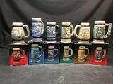 1980s Avon Mini Beer Stein In Box 6 Units