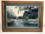 Kenneth Framed Signed Print Forest River