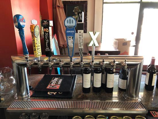 Draft Beer Bar Tower w/ Tap Handles & Drain - Talega Village