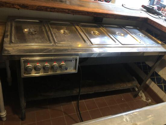 Wells 5 Tray Warmer Commercial Kitchen Prep Table Old Town