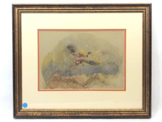 Signed & Framed Bird Artwork, Rosemary Ball